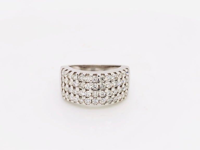 White Diamonds 1.85 Carat on White Gold Ring For Sale 8