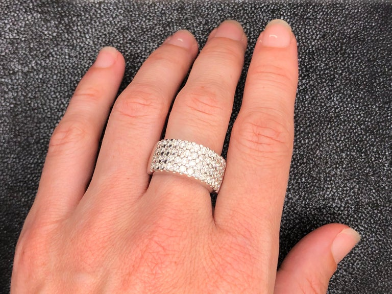 White Diamonds 1.85 Carat on White Gold Ring For Sale 12