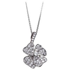White Diamonds Platinum Pendant Necklace AENEA Jewellery