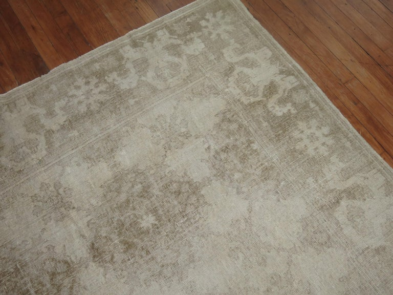 White Distressed Vintage Khotan Rug In Distressed Condition For Sale In New York, NY
