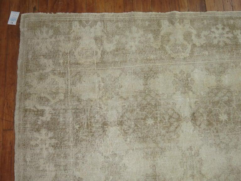 20th Century White Distressed Vintage Khotan Rug For Sale