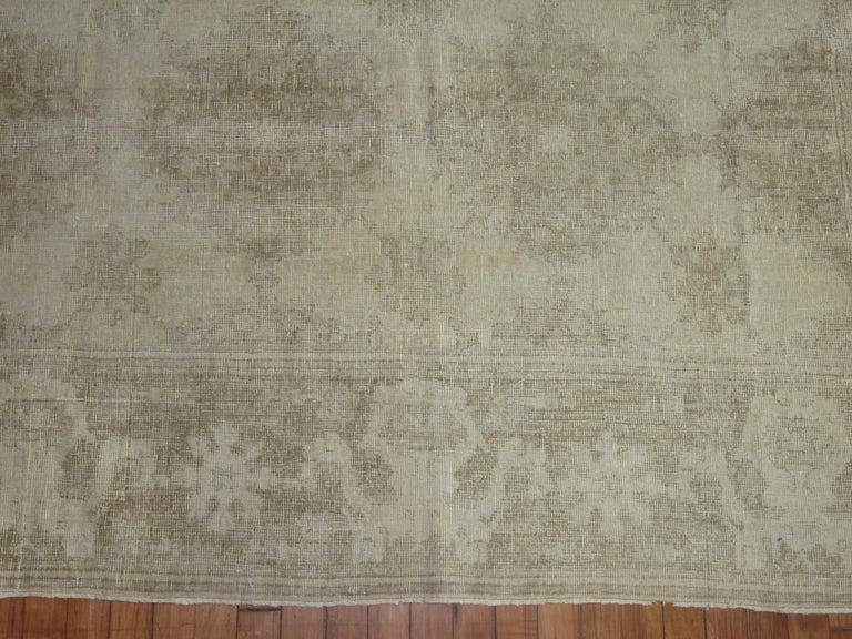 White Distressed Vintage Khotan Rug For Sale 1