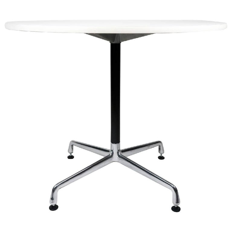 White Eames Aluminum Group table