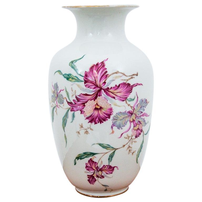 White Efchenbach Porcelain Vase, Germany