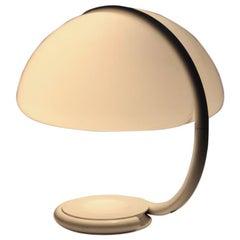Weiße Elio Martinelli Tisch Lampe Mod. 599 Serpente Entworfen, 1965, Italien