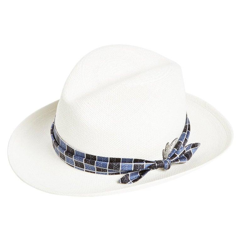 White embellished handmade hat NWOT For Sale