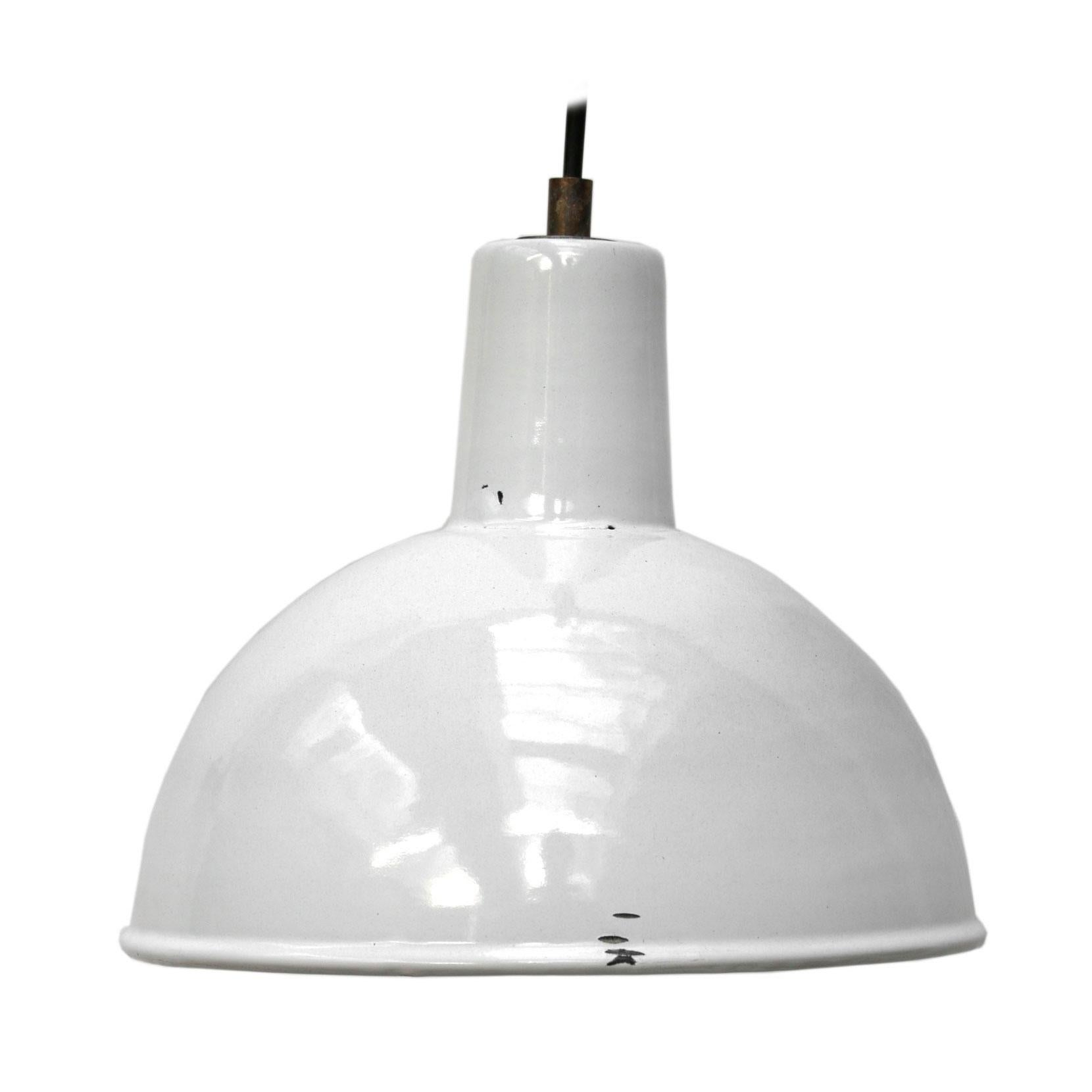 White Enamel Vintage Industrial Factory Pendant Hanging Lights
