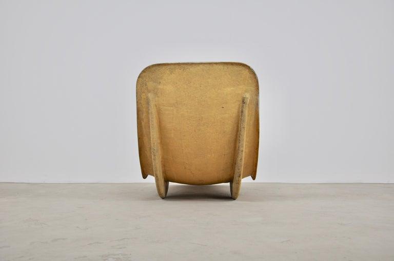 Fiberglass White Eurolax Club Med Deck Chairs by Charles Zublena, 1960s