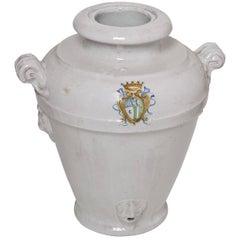 White Faenza Ceramic Vase