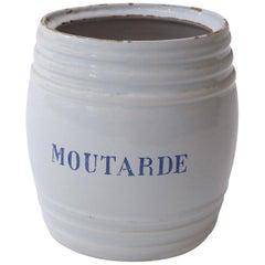 White Faience Mustard Pot