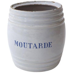 White Faience Mustard Pot