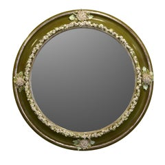White Field Flowers and Buds Mirror