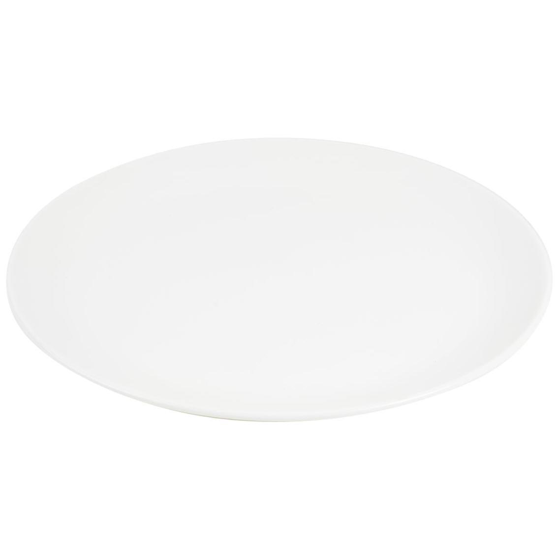 White Fine Bone China Dinner Plate