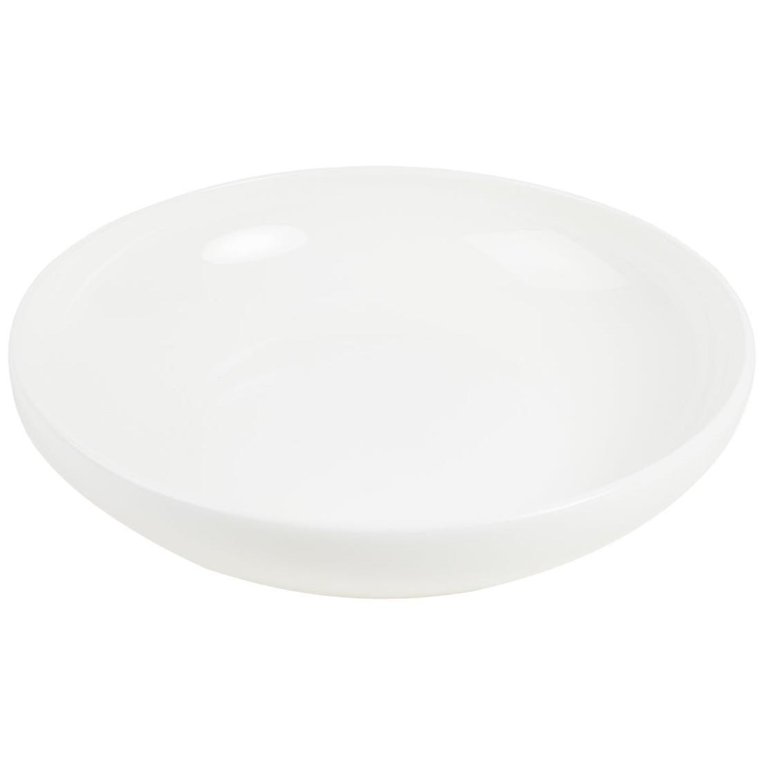 White Fine Bone China Pasta Bowl