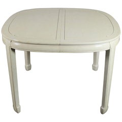 White Fine Furniture Asian Ming Chinoiserie Style off White Lacquer Oval Dining