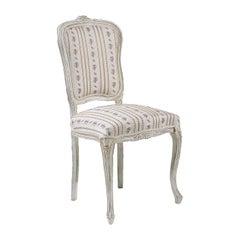 White Floral Chair