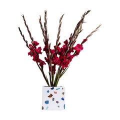White Gemstone Terrazzo Vase or Planter