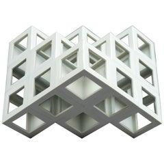 White Geometrical Minimal Porcelain Sculpture