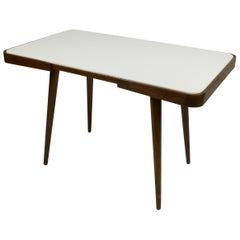 White Glass Coffee Table by Jiri Jiroutek, 1960s