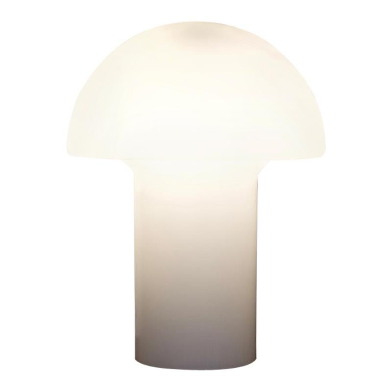 White Glass Table Lamp by Peill & Putzler, Germany, 1970s