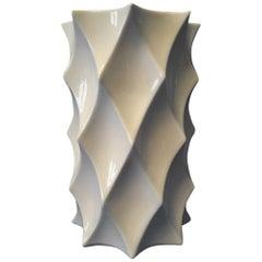 White Glaze Geometric Vase Gerold Porcelain Bavaria