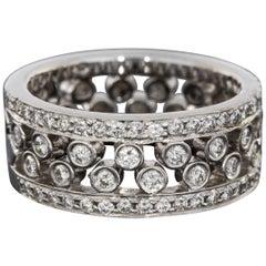 White Gold 0.60ct Diamond Interlocking Wedding / Stack Band Ring Set