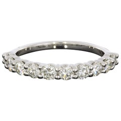 White Gold 0.93 Carat Round Diamond Wedding Band Ring
