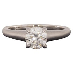 White Gold 1.01 Carat GIA Certified Round Diamond Solitaire Engagement Ring