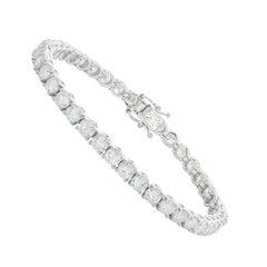 White Gold 10.39 Carat Diamond Tennis Bracelet