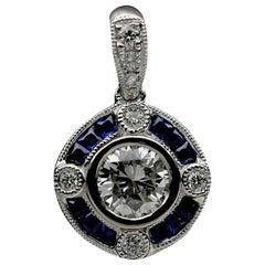 White Gold 1.15 Carat Round Diamond Pendant