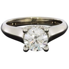 White Gold 1.22 Carat Round Diamond Solitaire Engagement Ring