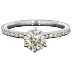 White Gold 1.48 Carat Round Diamond Solitaire Engagement Ring