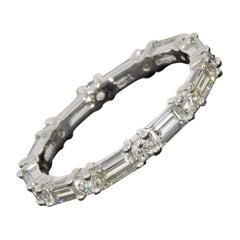 White Gold 1.77 Carat Baguette Diamond Wedding Band