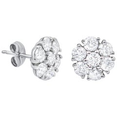 White Gold 18 Karat Diamond Stud Earrings