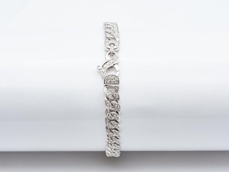 White Gold 18 Karat Gourmet Decorated with 249 Diamonds of 1.78 Carat Color F/G In New Condition For Sale In Vannes, FR