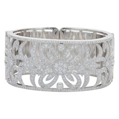 White Gold 5 Carat Diamond Bangle