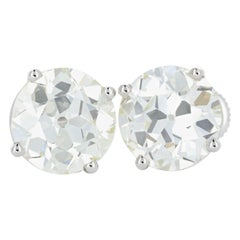 White Gold 9.33 Carat Round Brilliant Diamond Studs