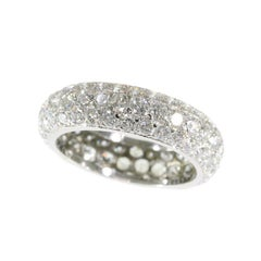 Vintage Eternity Band with over 5 crts of Brilliant Cut Diamonds, 1960s