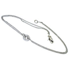 White Gold and Diamond Anklet