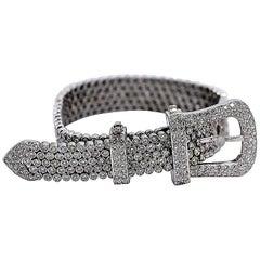 White Gold and Diamond Buckle Bracelet