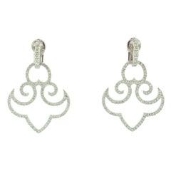 Diamond White Gold Clip-On Earrings