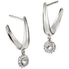 AnaKatarina White Gold and Diamond Earrings