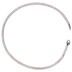 White Gold and Diamond Straightline Diamond Collar Necklace