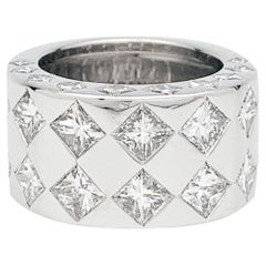 "White Gold and Diamonds Chanel Ring, ""Jacquard"" Collection"