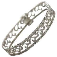 White Gold Antique Inspired Diamond Bracelet