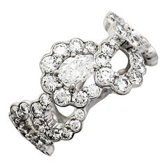 """White Gold """"Archi"""" Dior Ring Set with Diamonds"""