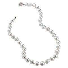 Nina Runsdorf White Gold Baroque Pearl Necklace