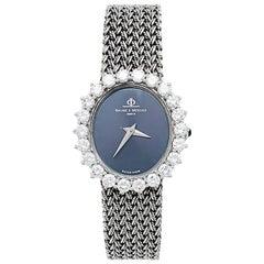 White Gold Baume & Mercier Watch, Diamonds