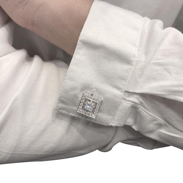 White Gold Boucheron Cufflinks
