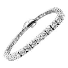 White Gold Brilliant Cut Tennis Bracelet, Ref 10.39 Carat